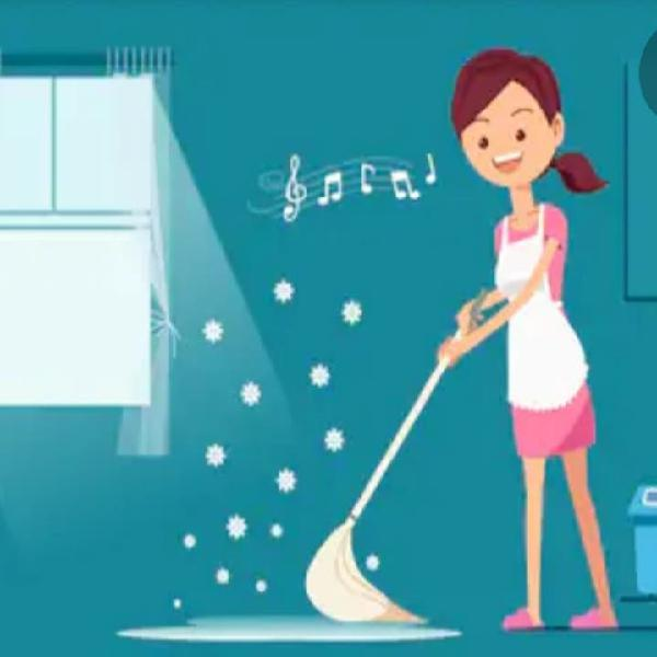 Realizo sus tareas domesticas