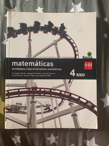 4º eso matemáticas académicas sm