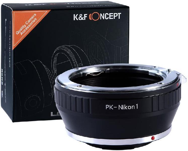Adaptador lentes pentax k a cámaras nikon 1 series