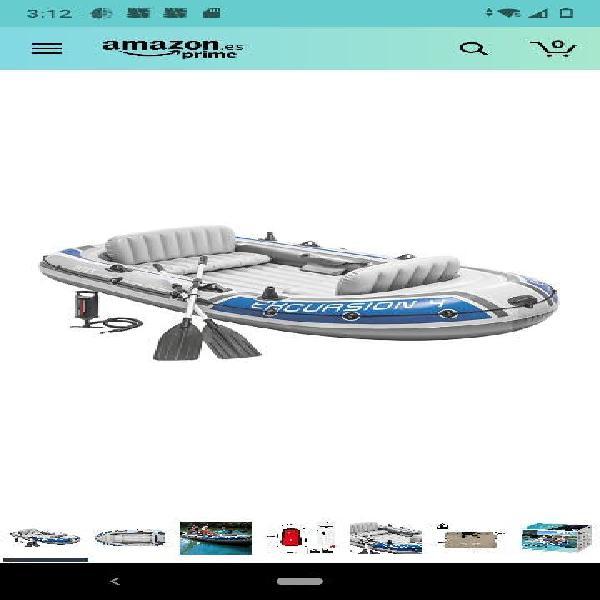 Barca hinchable excursion 4 con 2 remos 315 x 165