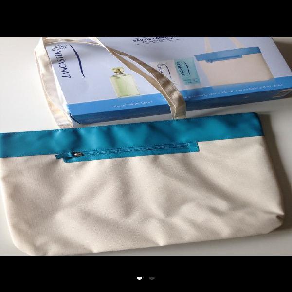 Bolso lancaster blanco y azul