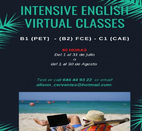Cursos intensivos de inglés online!