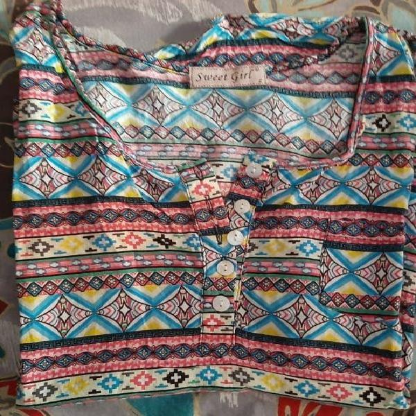 Camiseta asimétrica colores 3x2