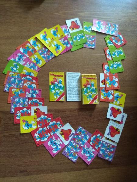 Cartas fournier domino los pitufos