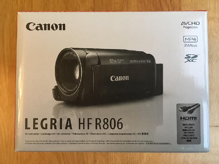 Cámara vídeo canon legria hf r806. nueva