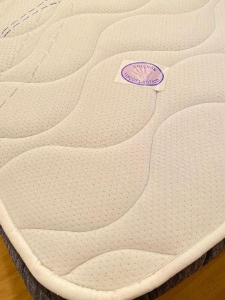 Colchón 135 + somier base tapizada, sin apenas uso