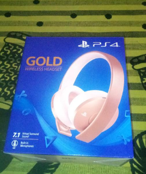 Headset sony ps4 nuevo auriculares gold rose rosa