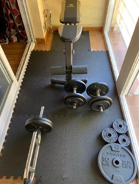 Lote completo musculación gimnasio