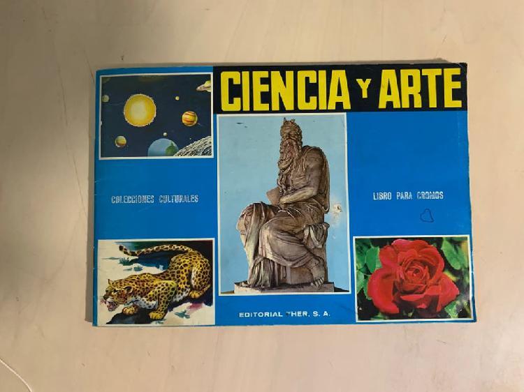 Lote álbum cromos ciencia y arte/vida y color
