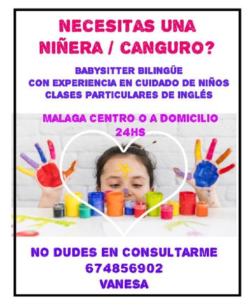 Niñera - canguro bilingüe