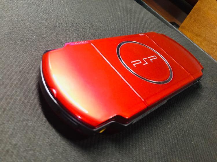 Psp 3000 red & black edition + 128gb + caja