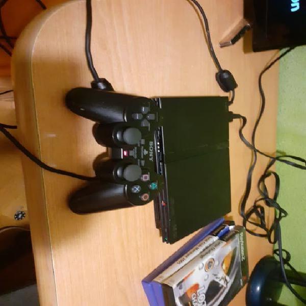 Play station 2 slim negra