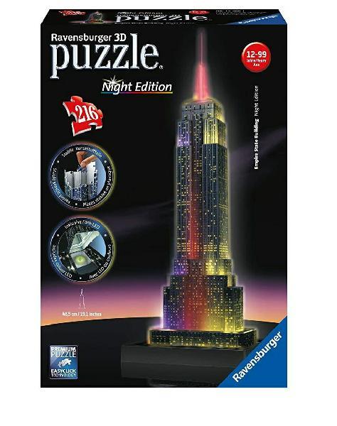 Puzzle 3d big ben con luces.