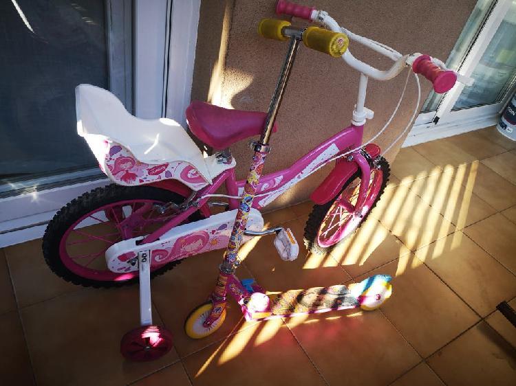 Se vende bicicleta y patinete