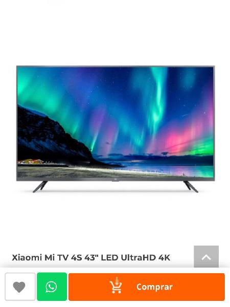 "Tv xiaomi mi 4s 43"" led 4k smart tv android"