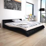 Vidaxl estructura de cama 160x200 cm cuero artificial negra