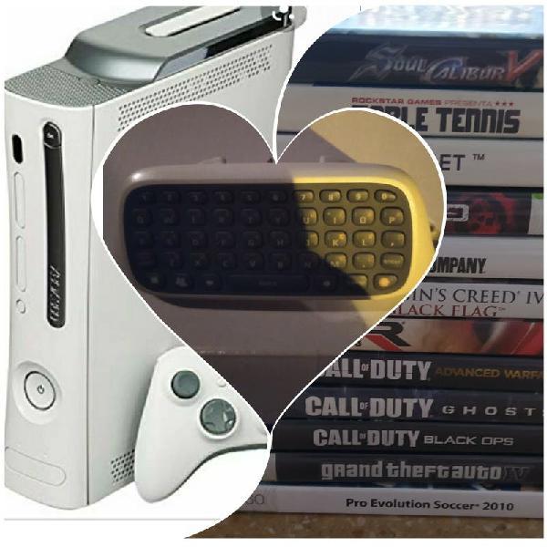 Xbox 360, mando con teclado y estos juegos