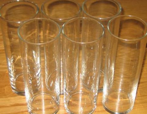 6 vasos de tubo