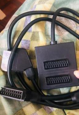 Adaptador y cable euroconector scart