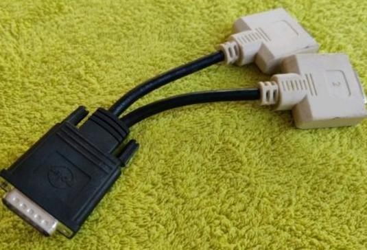 Cable adaptador molex 60 pins a dvi x2