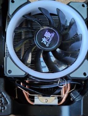 Disipador cpu rgb para intel amd am2 /am3/am4