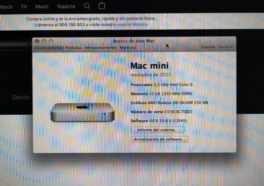 Imac mini 2011 i5, 12gb 250gb ssd