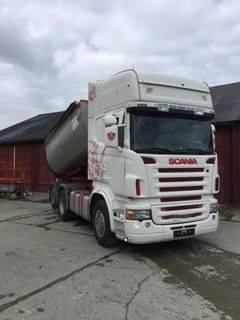 Scania r 470 6x2 light asphalt dump truck en venta