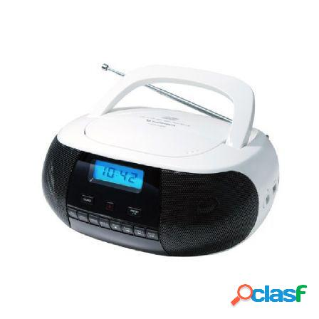 Radio cd sunstech crusm400wt white - 2*1w rms - cd/r/rw/mp3/wma - fm -