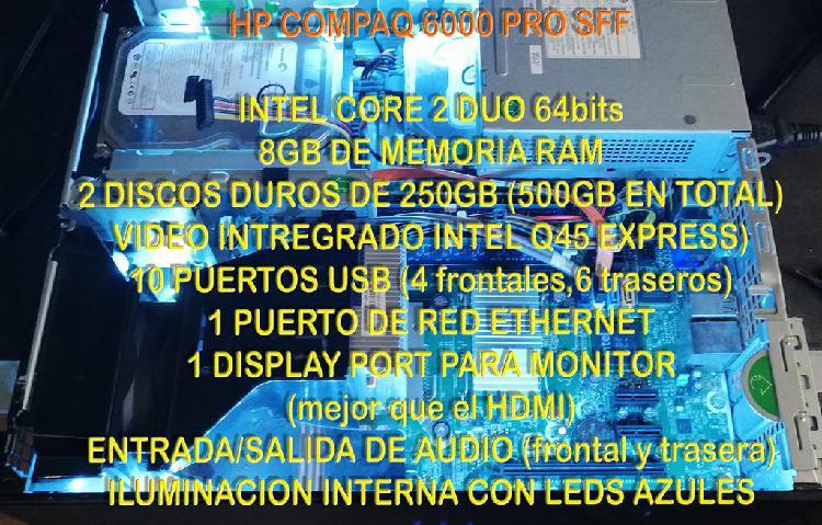 Hp 64bits, 8gb ram, 500gb disco duro + regalos!!!!