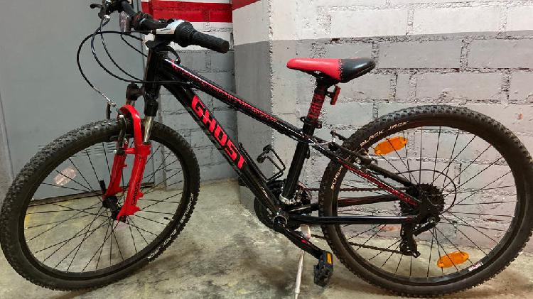 Mountain bike ghost power kid 24 black/red/gray