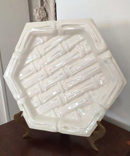 Plato hexagonal cerámica