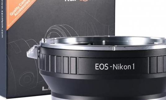 Adaptador objetivos canon eos ef y ef-s a nikon 1