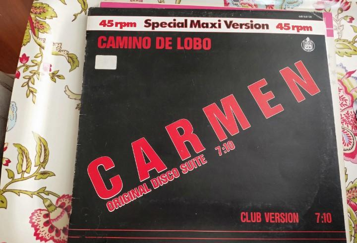 """Camino de lobo - carmen (12"""", maxi) 1983. sello:hispavox"""