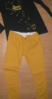 Camiseta zara, pantalón sfera t14