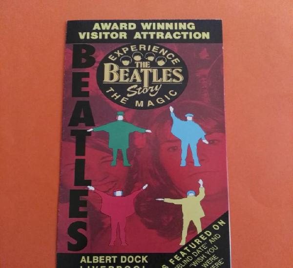 Flyer despegable del museo beatles story ver fotos