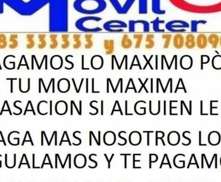 Maxima tasacion por tu movil nuevo =movil center=