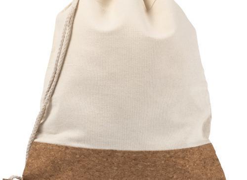 Mochila de algodón y corcho