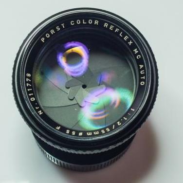 Objetivo porst color reflex mc 55mm f/1.2 perfecto