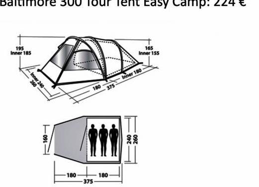Tienda de camping familiar