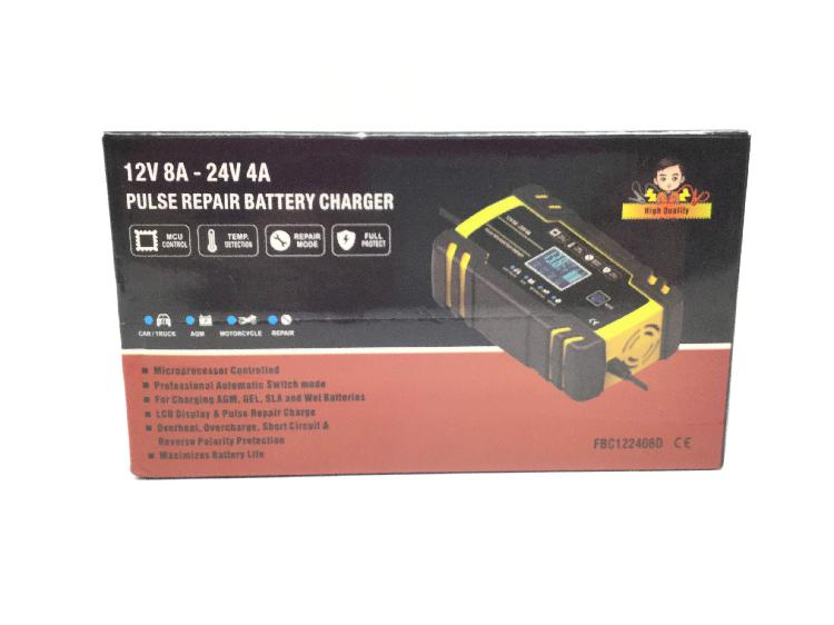 Cargador baterias foxsur foxsur 12v/24v lcd efb agm gel