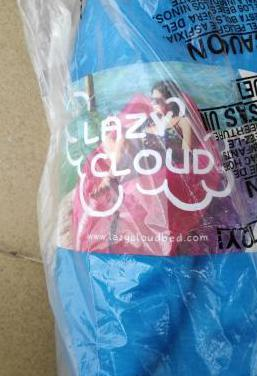 Colchoneta inflable sin inflador lazy cloud