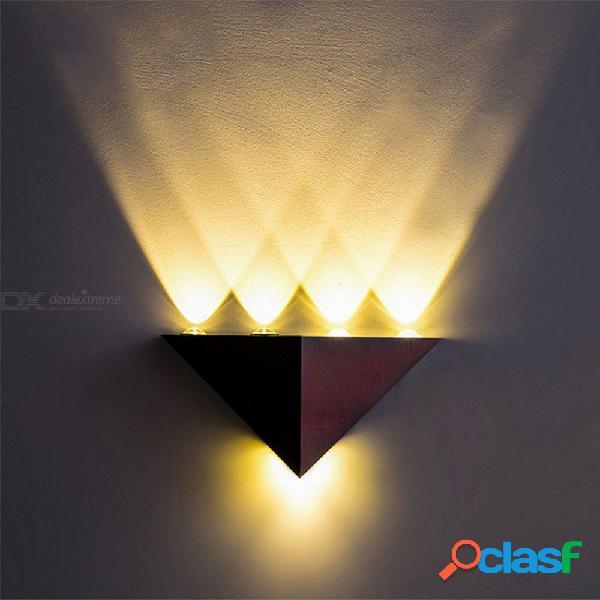 4W Triángulo De Aluminio LED Lámpara De Pared De Alta Potencia Hogar Moderno Iluminación Interior Luz Exterior Del Partido