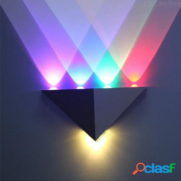 5w triángulo de aluminio led lámpara de pared de alta potencia moderna iluminación del hogar interior fiesta exterior bola disco luz