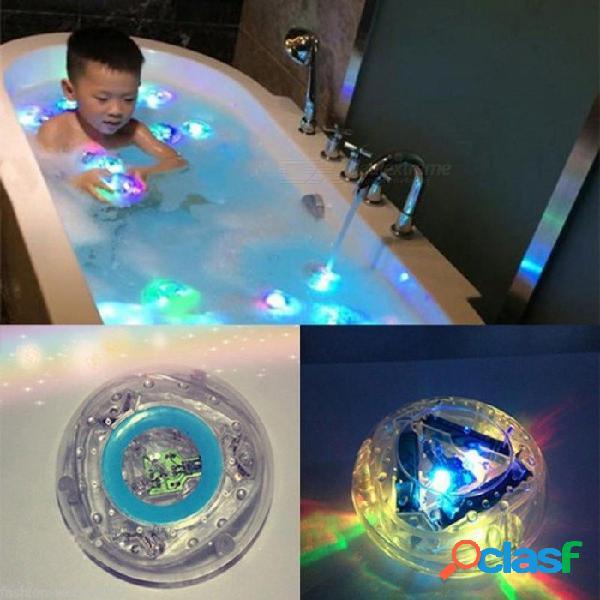 Bebé divertido colorido baño led baño de luz juguete niños baño impermeable a prueba de agua en bañera bebés niños juguetes regalo multicolor
