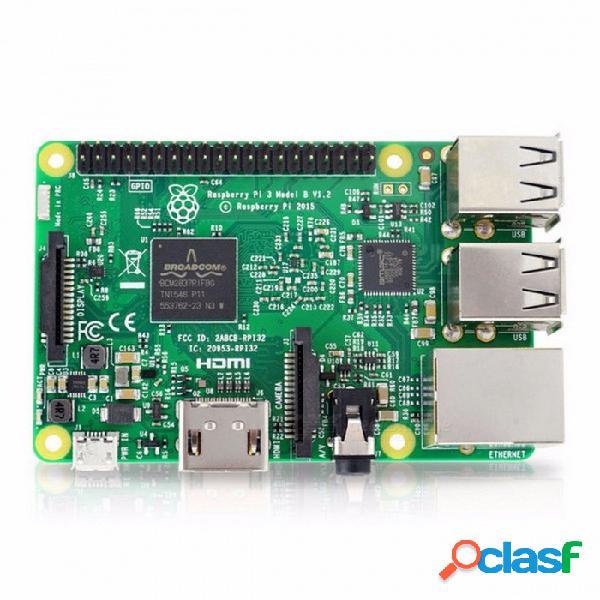 Element14 versión raspberry pi 3 modelo b placa w / 1gb lpddr2 bcm2837 cuádruple núcleo pi3 b, pi 3b, pi 3 b con wi-fi y bluetooth ras pi 3