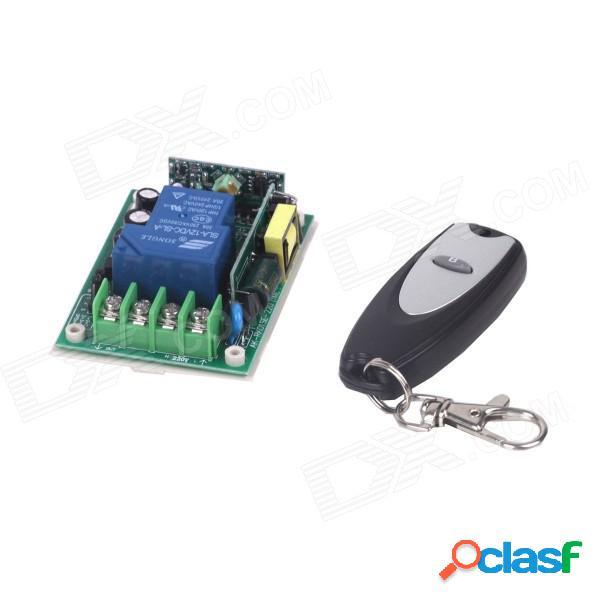 Interruptor de control remoto zndiy-bry 1-ch + control remoto inalámbrico de 1 botón - blanco + negro