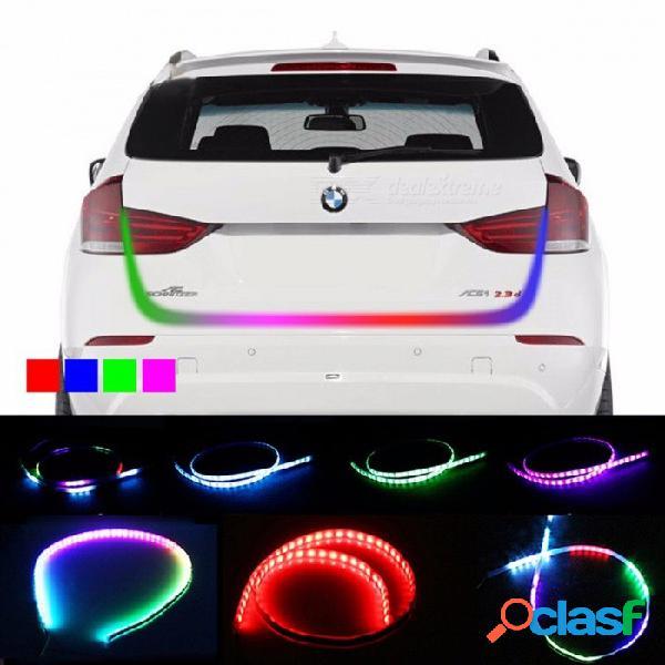OKEEN car styling tren de rodaje RGB flotante LED streamer dinámico intermitente luz de advertencia trasera, maletero luz RGB 121cm