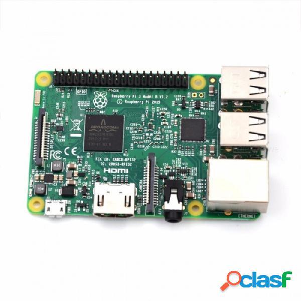 Raspberry pi 3 modelo b board + 2pcs disipador de calor + 5v 2.5a adaptador de corriente fuente de alimentación de ca, admite 1gb de ram, wi-fi, bluetooth ras pi 3