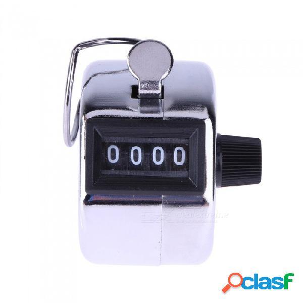 registrador digital manual de mano contador de 4 dígitos número de mano manual contando golf clicker entrenamiento metal contador de plata