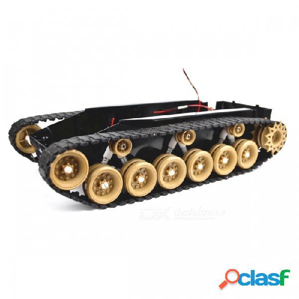 Sinoning absorción de choque amortiguación tanque de equilibrio robot chasis plataforma de alta potencia de control remoto juguete diy para arduino amarillo